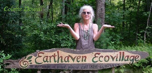 Colette Dowell works with Earth  Haven Permaculture Community in Asheville North Carolina since Paul Caron and Val initially constructed in 1994