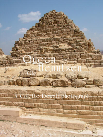 Image of Queen Henutsen pyramid photograph by Colette Dowell on Giza Plateau