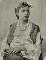 Egyptian Woman Antique photograph turn of century Black and white Circular Times Experiment Video